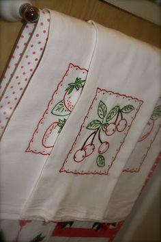 Cute Cherry Towels |  Rose Vignettes