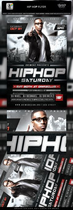 Hip Hop Flyer. Download: https://graphicriver.net/item/hip-hop-flyer/18707133?ref=thanhdesign