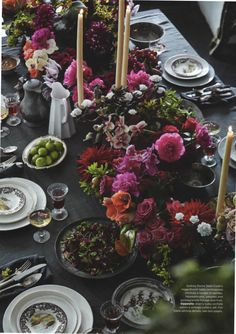 Vogue Living Australia, april 2013  tablecloth & napkins by Society