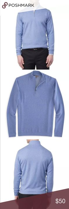 NEW Peter Millar Salisbury Quarter-Zip Sweater L Peter Millar Salisbury Quarter-Zip Sweater This sweater is completely machine washable & supremely comfortable. our lightweight, soft cotton is plaited with polyester on the inside, creating a slick surface so it's easy to layer on and off—plus it wicks away moisture for all-day warmth and comfort  Men's 60% cotton / 40% polyester Outer: 16 gauge smooth cotton knit Inner: smooth polyester inner surface moves moisture and allows for easy…