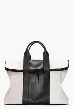 3.1 PHILLIP LIM :: Black & White TriColor Leather 31 Hour Bag