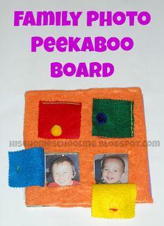 simple family photo peek-a-boo board