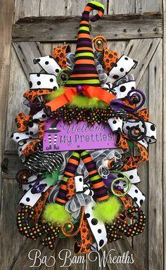Witch Swag, Witch Decor, Witch Wreath, Halloween Swag, Halloween Decor, Halloween Wreath by Ba Bam Wreaths