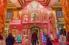 The Giant Gingerbread House at the Fairmont Hotel. Christmas in San Francisco
