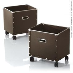 キャスター付きデザインパルプボックス Torino〔トリノ〕 同色2個組 収納ボックス 収納ケース 硬質パルプポイント【楽天市場】