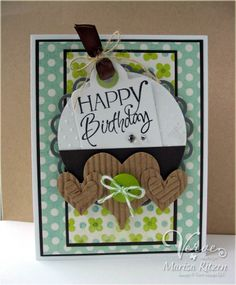 Card by Marisa Ritzen using the Happy Birthday plain jane from Verve Stamps.  #vervestamps