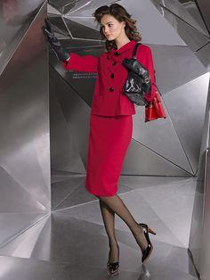 The beauty and classic elegance of women's fashion. Mature Women Fashion, Womens Fashion, Classy Outfits, Beautiful Outfits, Jacket Dress, Peplum Dress, Nice Dresses, Dresses For Work, Amazing Dresses