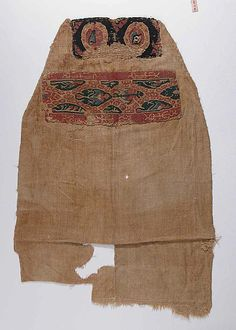 Fragment of a Tunic Object Name: Fragment Date: 6th–7th century Geography: Egypt, Akhmim (former Panopolis) Culture: Coptic Medium: Wool, linen; plain weave, tapestry weave Accession Number: 90.5.191