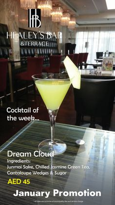 Some other specials for January! Cocktail of the 4th week at Healey's - Dream Cloud
