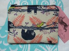 Handmade Coin Purse Small Makeup Bag Sloth Animal Fabric Cosmetic Pouch in Clothes, Shoes & Accessories, Women's Accessories, Purses & Wallets | eBay