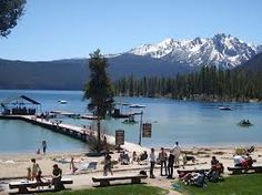 Redfish Lake, Stanley, Idaho - high in the Sawtooth Mtns.  We spent many a summer vacation at Uncle Jack's cabin, kayacking on and swimming in this beautiful (and cold!) lake.