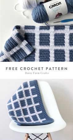 Crochet Daisy, Free Crochet, Knit Crochet, Crochet Throws, Knit Blankets, Blanket Yarn, Baby Blankets, Crochet Blanket Patterns, Baby Blanket Crochet
