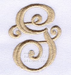 Here's a free embroidery design from Amazing Embroidery Designs.  If you're needing the letter G for a monogram, get this one today.