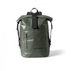 Filson Dry Day Backpack (Green) (9.330 RUB) ❤ liked on Polyvore featuring men's fashion, men's bags, men's backpacks and filson