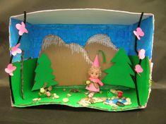 cardboard box butterfly diorama - Google Search