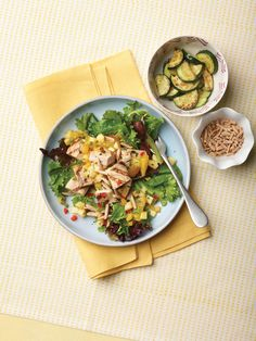 """Swordfish Salad with Salsa Dressing from the new """"The Perfect Diabetes Comfort Food Collection,"""" by Robyn Webb"""