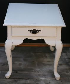 Shabby chic vintage end table distressed by InspireMeDesigns, $85.00