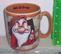 Wake Up Grumpy Huge 5 Inch Tall Walt Disney World Coffee Mug Cup