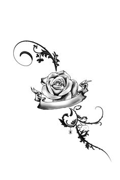 Tribal rose ankle Tattoos for Girls | foot tattoo rose by juliavonmorque designs interfaces tattoo design ...