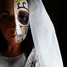 My Day of the Dead face Halloween. Dia de Los Muertos