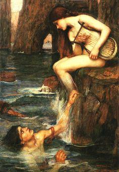 The Siren - John William Waterhouse, c. 1900