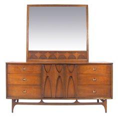 Broyhill Brasilia Dresser with Mirror -- My mom & dad's bedroom set