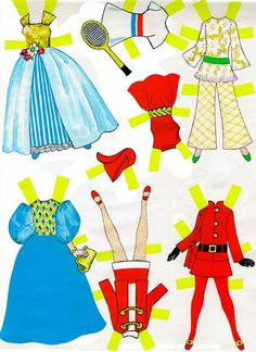 Fashion show paper dolls (5 of 9)
