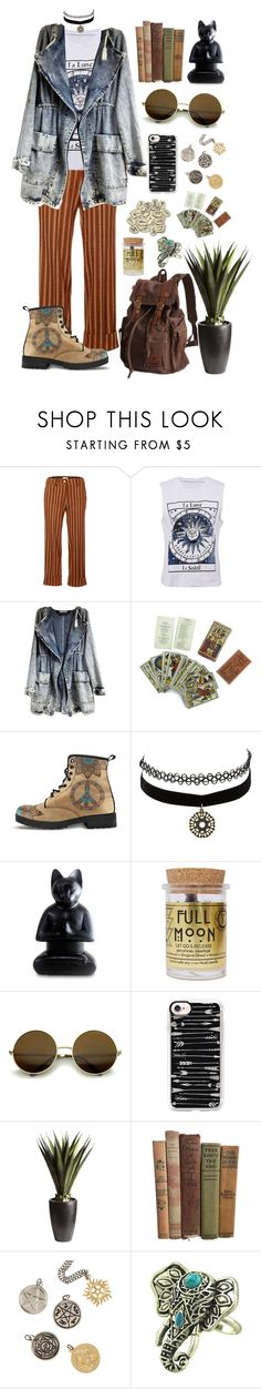 """Boho Grunge"" by nika105 ❤ liked on Polyvore featuring JIRI KALFAR, Charlotte Russe, NOVICA, Rune NYC, Little Shop of Oils, Casetify, Pier 1 Imports and Hot Topic"