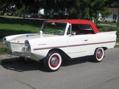 1963 Amphicar 770...Land or water, as long as the waves weren't rough....