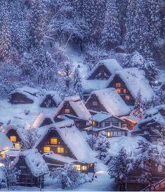 Gifu Prefecture, Japan ❄️ Photo by Winter Szenen, I Love Winter, Winter Magic, Winter Time, Winter Christmas, Gifu, Kanazawa, Japan Photo, Snow Scenes