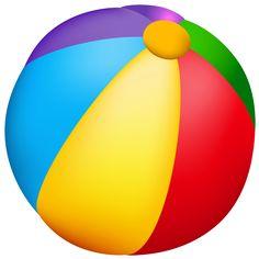 Beach Ball PNG Vector Clipart