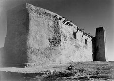 Church, Acoma Pueblo, side view and tower with cross (http://www.archives.gov/research/ansel-adams/images/aaa05.jpg)