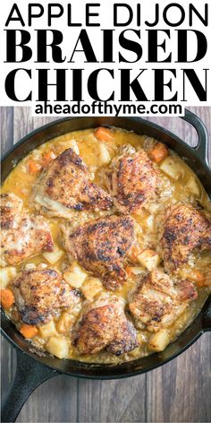 Yeast Biscuits, Braised Chicken Thighs, Food Experiments, One Pan Chicken, Creamy Mashed Potatoes, Winner Winner Chicken Dinner, Sauteed Vegetables, Cravings, Delish