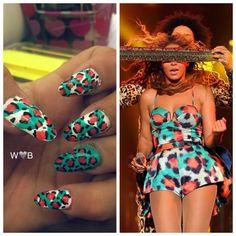 Grown Woman Queen Beyonce Nail Theme
