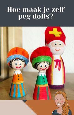 Hoe verf je peg dolls? | Klas van juf Linda Dolls, Christmas Ornaments, Holiday Decor, Diy, Dutch, School, Kids Learning, Atelier, Baby Dolls