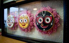 quilled-Gods!! Buddha Painting, Krishna Painting, Krishna Art, Hare Krishna, Lord Jagannath, Quilling Designs, Rangoli Designs, Paper Art, Paper Crafts