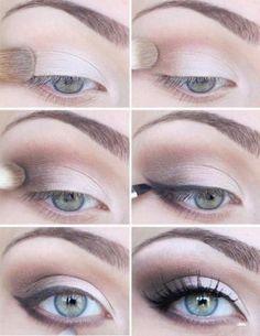 Light Wedding Makeup - like how the eyeliner doesn't start until the middle of the eye. don't like eyeliner on the bottom.
