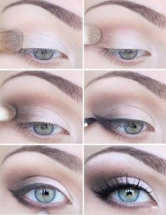 Light Makeup - like how the eyeliner doesn't start until the middle of the eye. don't like eyeliner on the bottom.