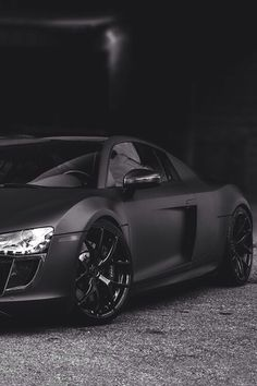 Audi R8 in Matte black. Thoughts? HOT or NOT? #TinderforCars << Definitely HOT!