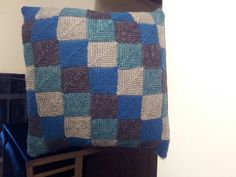 My own domino knitted cushion .