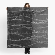"""""""Bouquets of Barbed Wire"""" Scarf by GrandeDuc 