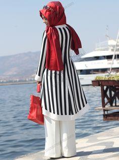 LOVE IT!!! ||| Çizgili Tunik 1050 - Siyah - Pınar Şems