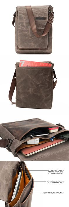 Field Muzetto by Waterfield Designs   Made in San Francisco with waxed  canvas and naturally- 31f082b331