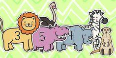 0-30 Numbers On Safari Animals