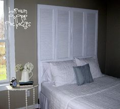 Share Tweet + 1 Mail I've loved the idea of using closet doors as a headboard for a really long time, and it's been ...