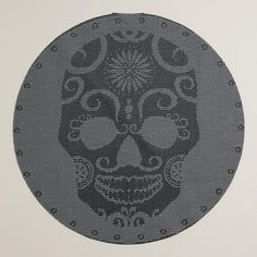 One of my favorite discoveries at WorldMarket.com: Skull Vinyl Round Placemats, Set of 4