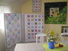 Exhibit at Frösövallen ( the fabulous barn quilt is made by a friend)