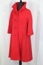 Vintage 1950s Hattie Carnegie Cherry Silk Ottoman Coat XS/S