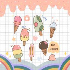 น้องไอติมมาแล้วน้าาา ร้อนๆแบบนี้ได้กินไอติมจะชื่นใจมากเลยค่าาา  ลงให้ดาวน์โหลดบนbioแล้วน้า… What Is Graphic Design, Fruity Pops, Food Drawing, Guestbook, Cute Designs, Easy Drawings, Bujo, Tape, Doodles