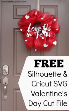 Free Silhouette Cameo, Curio & Cricut .SVG Valentine's Cut File by cuttingforbusiness.com
